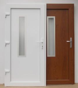 Vchodové dveře plastové skladem