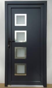 Vchodové dveře plastové antracit